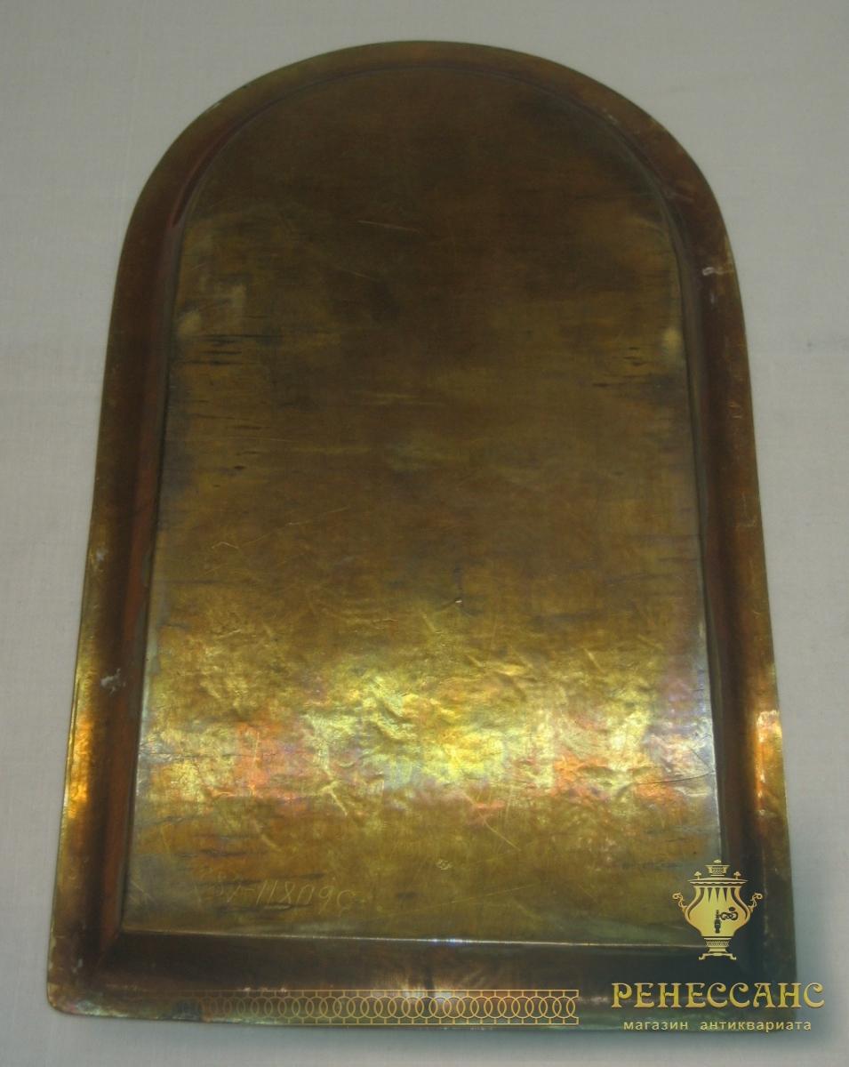Поднос старинный «арка», под эгоиста, томпак, 19 век №2718