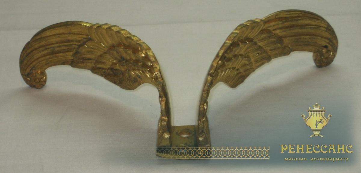 Деталь старинная «Крылья Ангела», элемент мебели, позолота, 19 век №2590