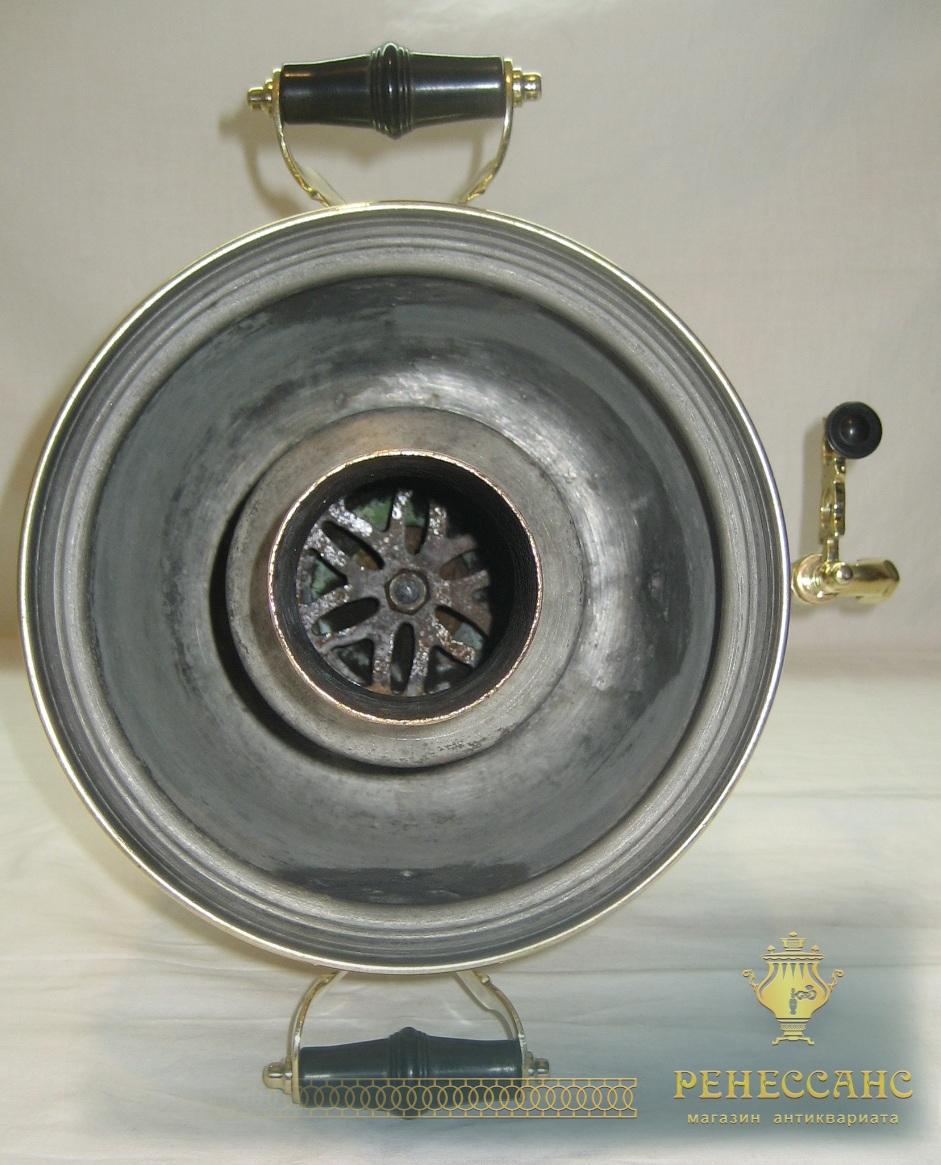 Самовар угольный «банка» на 4 литра, латунь, «ШТАМП» СССР №753