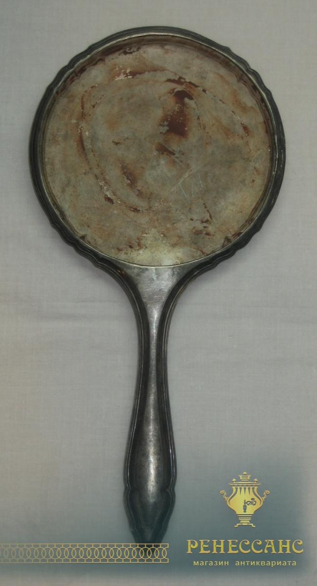 Зеркальце старинное, серебро 800 пробы, Европа 19-20 век №2741