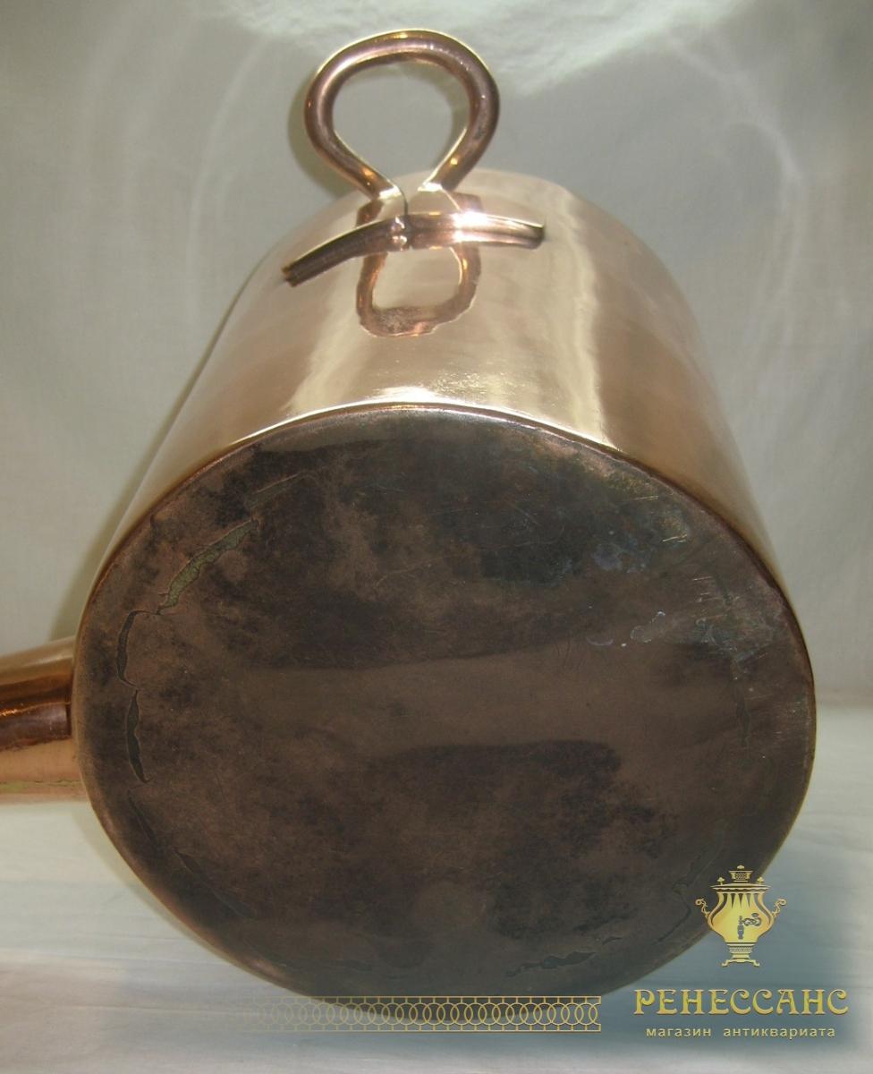 Куба старинная, самовар медный, водогрей, на 13 литров, «Товарищество Кольчугина» 19 век №2747