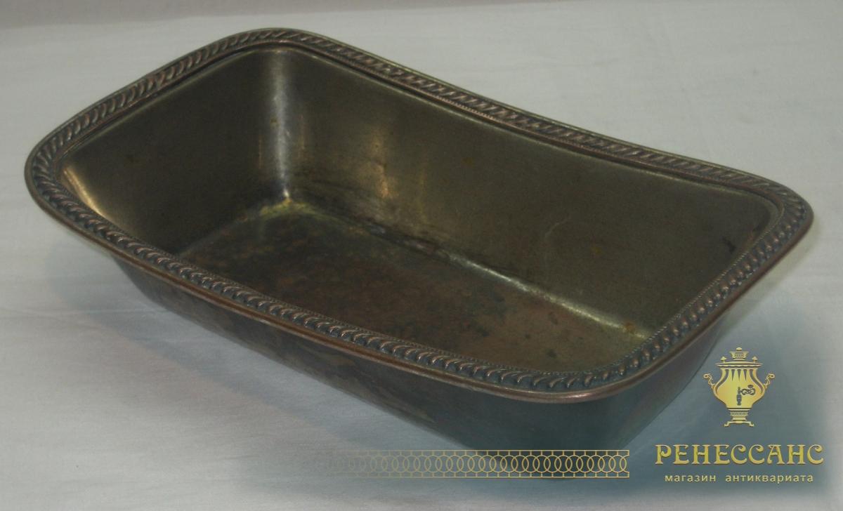 Конфетница, ваза старинная, орешница, серебрение, «Эмме» Москва 19 век №2775