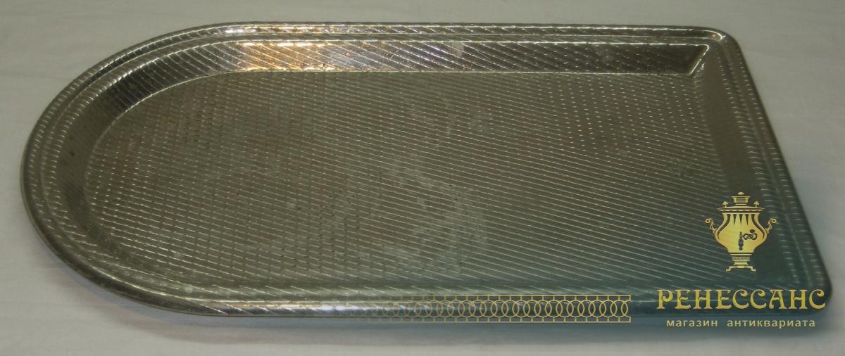 Поднос «арка» под самовар, никелировка, «Тула» СССР №2776