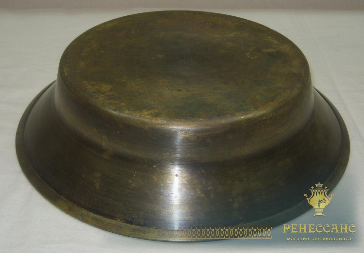 Таз старинный латунный, маленький, «Со звездой» СССР №2787