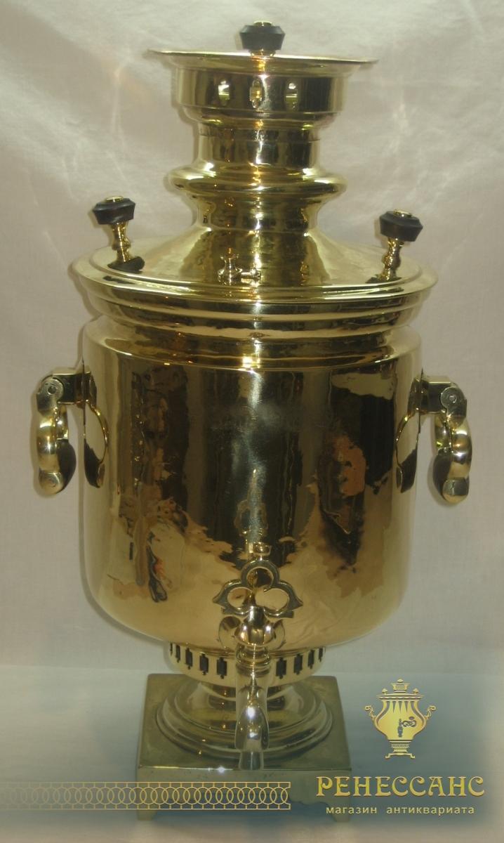 Самовар угольный «банка», с медалями, на 7,5 литров, «Ваныкина» №761