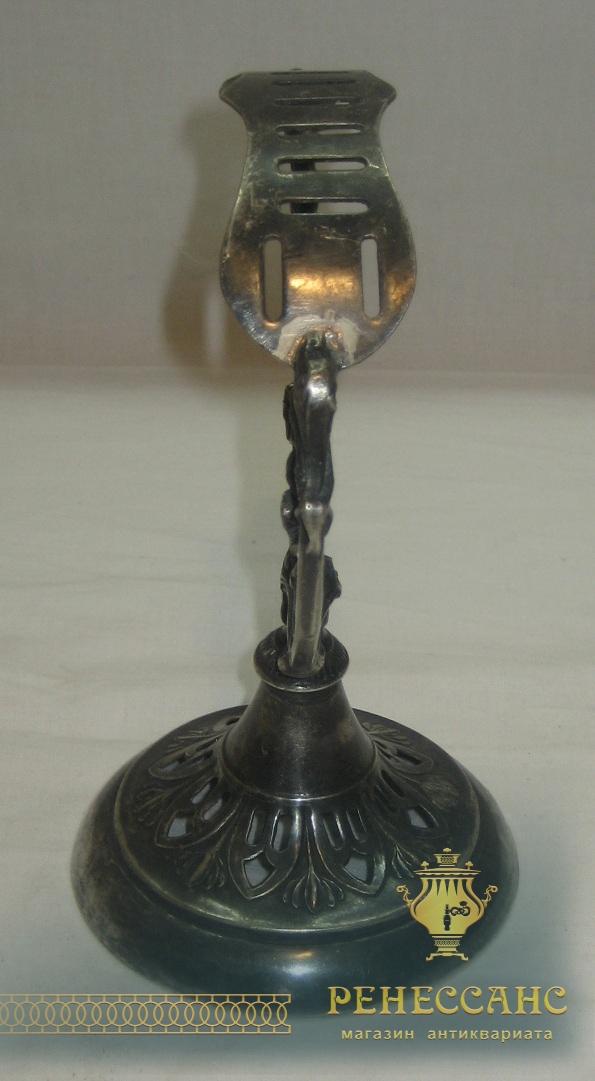 Подставка под ножи, серебрение, модерн, «Плевкевич» Варшава 19-20 век №2796