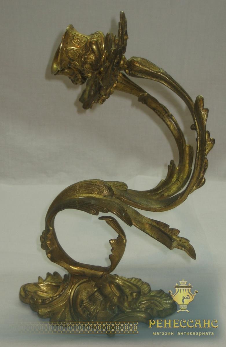 Бра старинное, подсвечники, бронза, позолота, Россия 19 век №2759