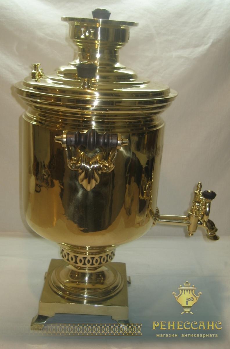 Самовар старинный «банка», с медалями, на 10 литров, «В.С. Баташева» 19 век №767