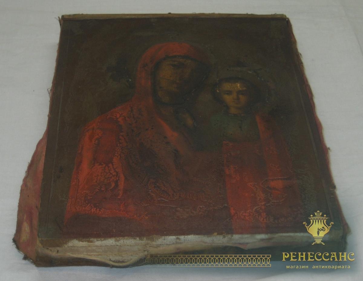 Икона старинная «Казанская Богоматерь», живопись, 19 век №2816