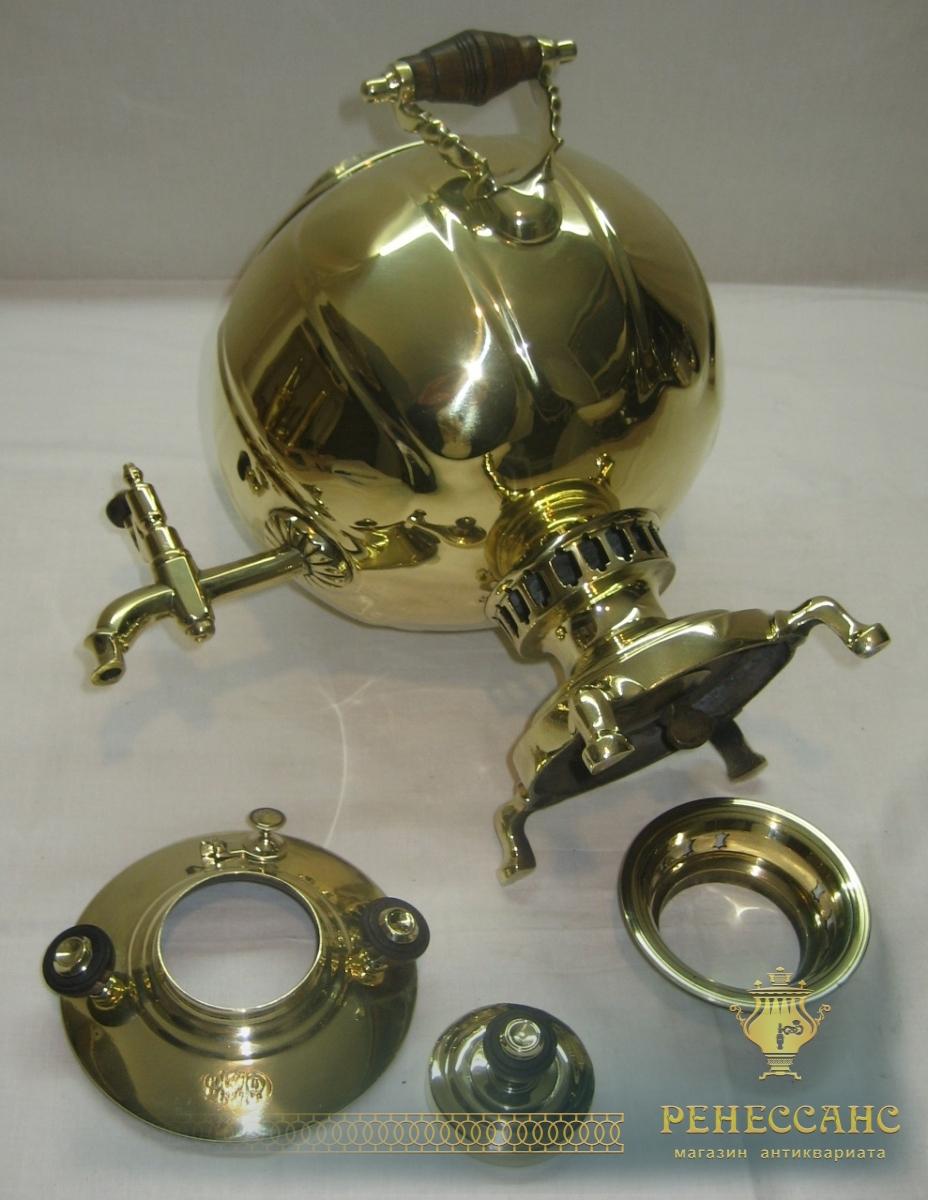 Самовар старинный «шар», на 2,5 литра, «Н.А. Воронцов» 19 век №770