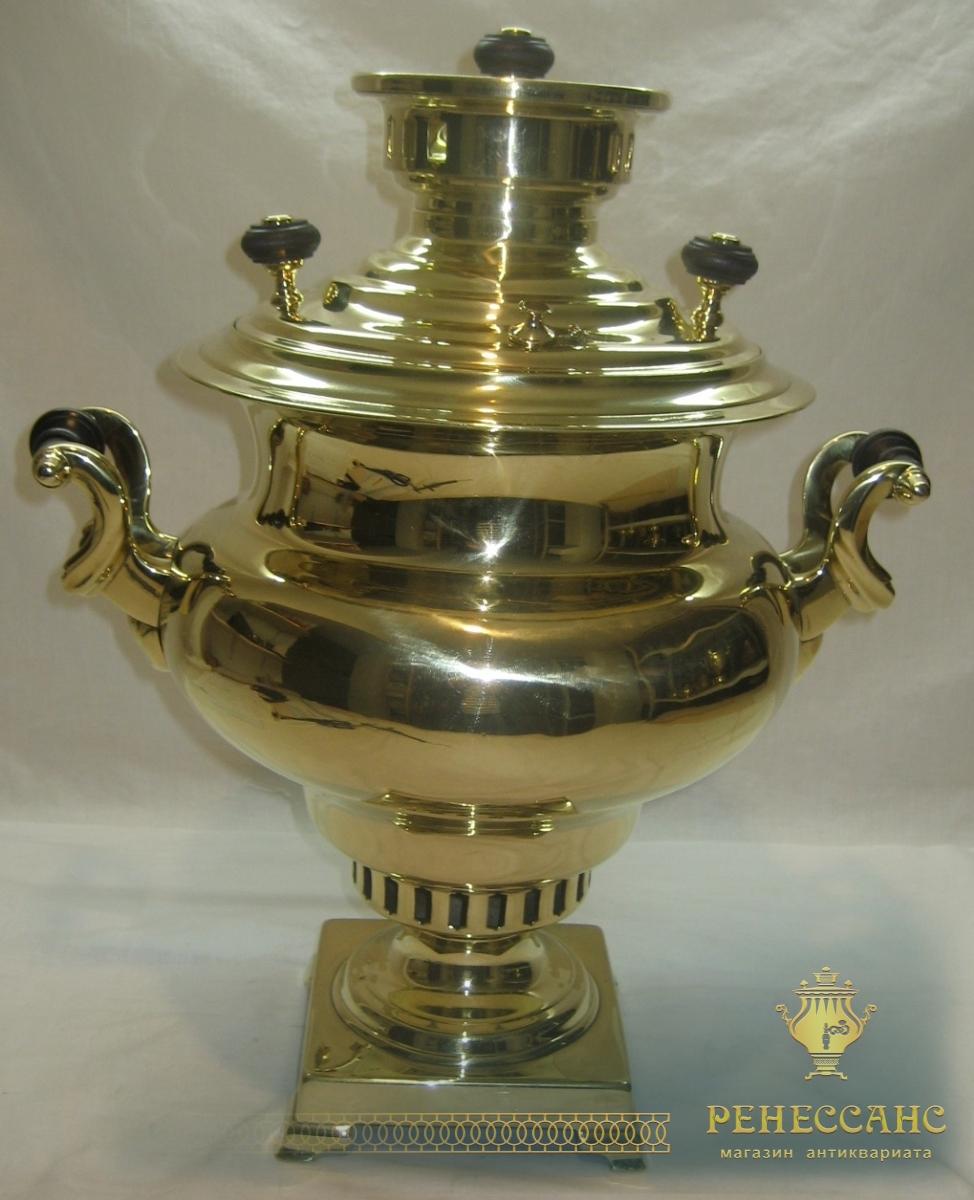 Самовар старинный угольный «репка», на 5,5 литров, «Бр. Воронцовых» 19 век №772