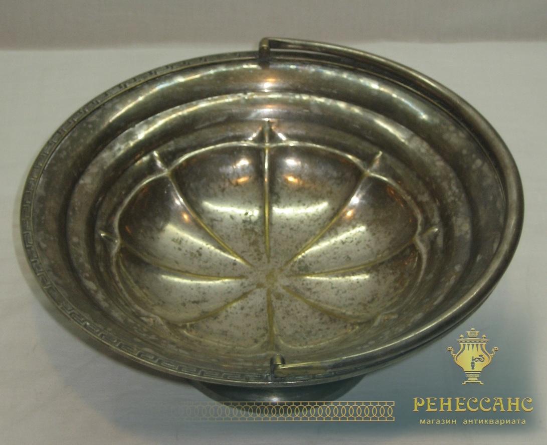 Ваза для фруктов старинная, конфетница, «Fraget» Варшава 19 век №2827