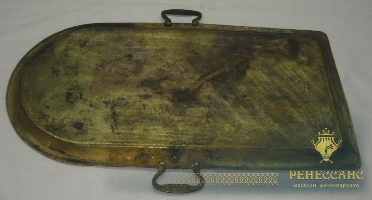 Поднос старинный с ручками «арка», «Бр. Воронцовы» 19 век №2828
