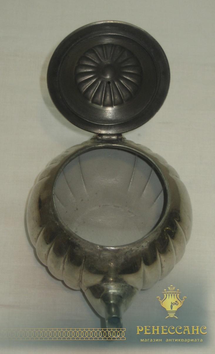 Чайник заварочный старинный, никелировка, «Gerhardi» №2829