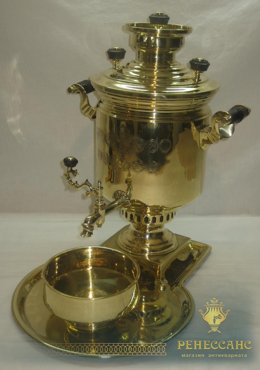 Самовар угольный «банка» с медалями, на 3 литра, «И.Ф. Капырзина» №774