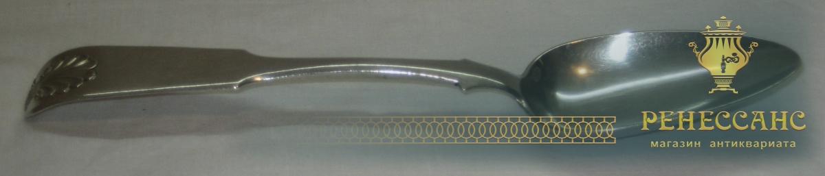 Ложка столовая, серебро 84 пробы, большая, Россия 1834 год №2804
