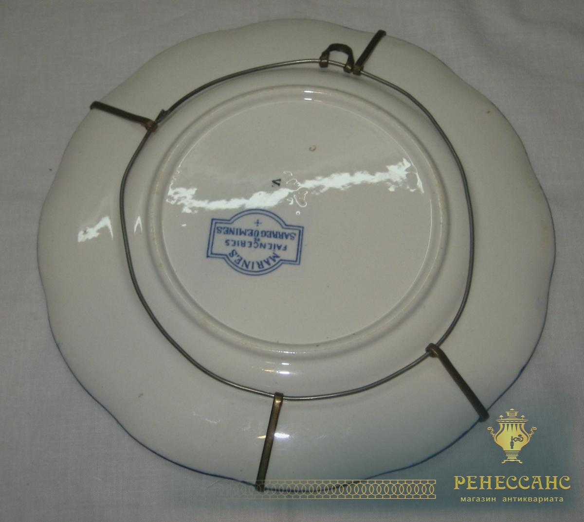 Тарелки настенные, панно, фарфор, Европа 19-20 век №2819