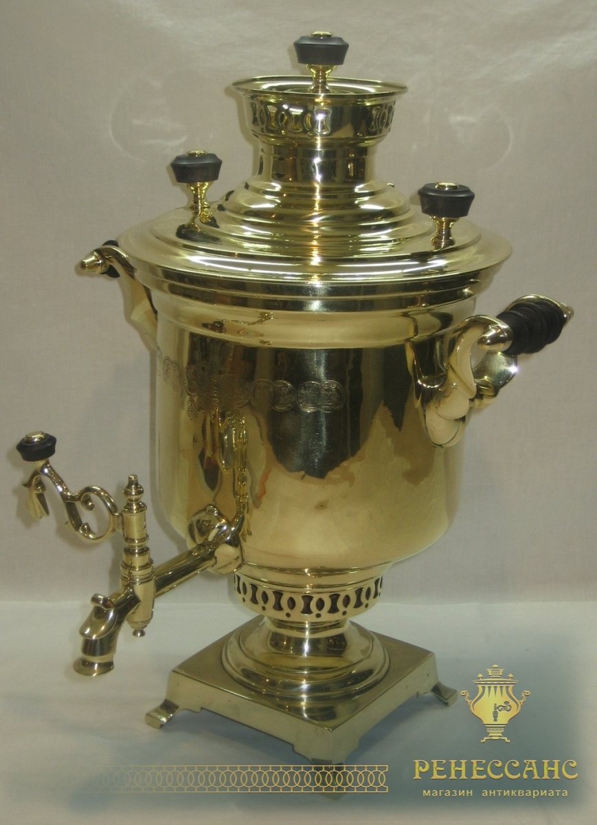 Самовар угольный «банка», с медалями, на 3 литра ,«Бр. Воронцовых» №787