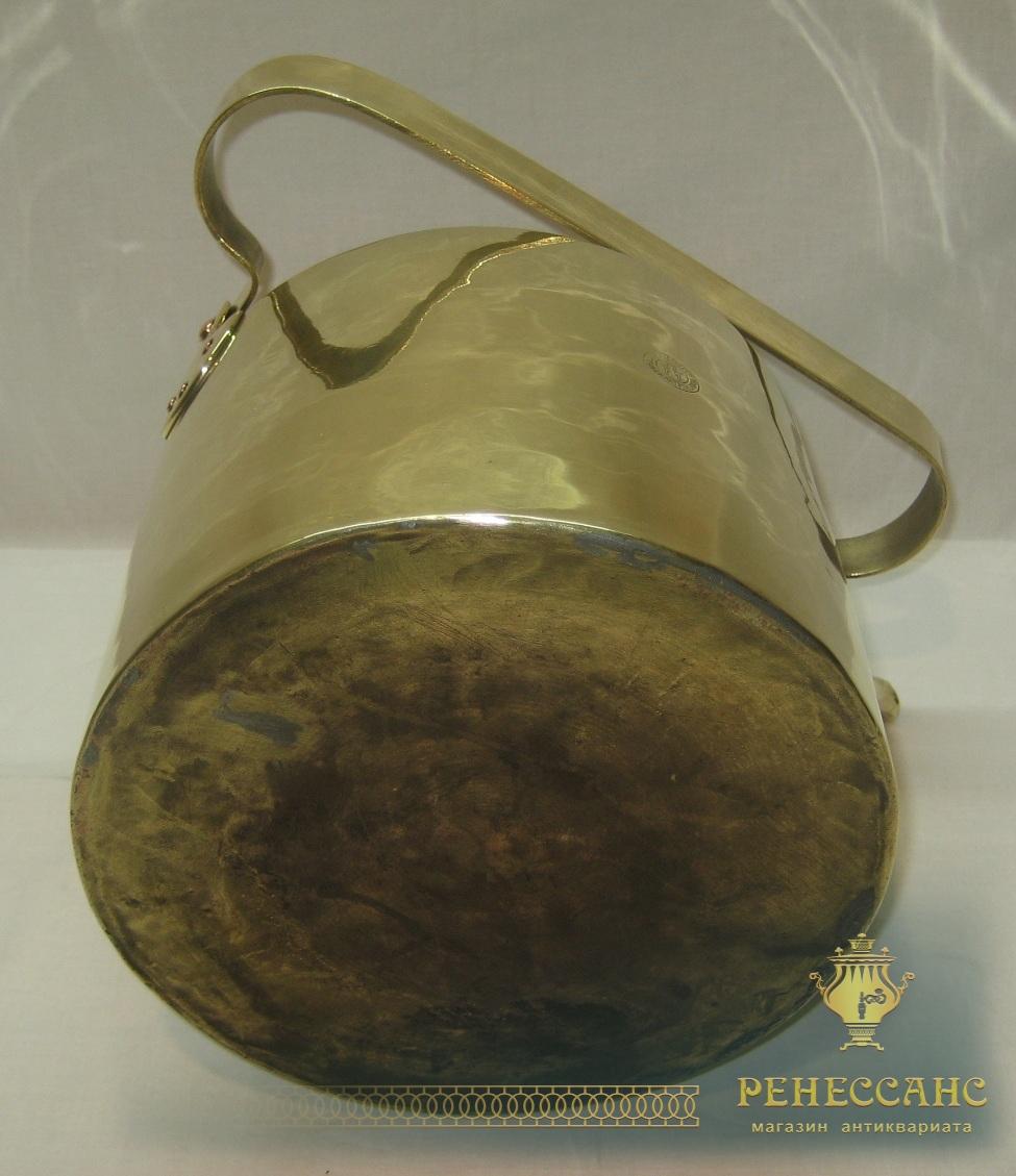 Чайник старинный из латуни, на 6 литров, «ТПЗ» Россия 1920-е годы №2910