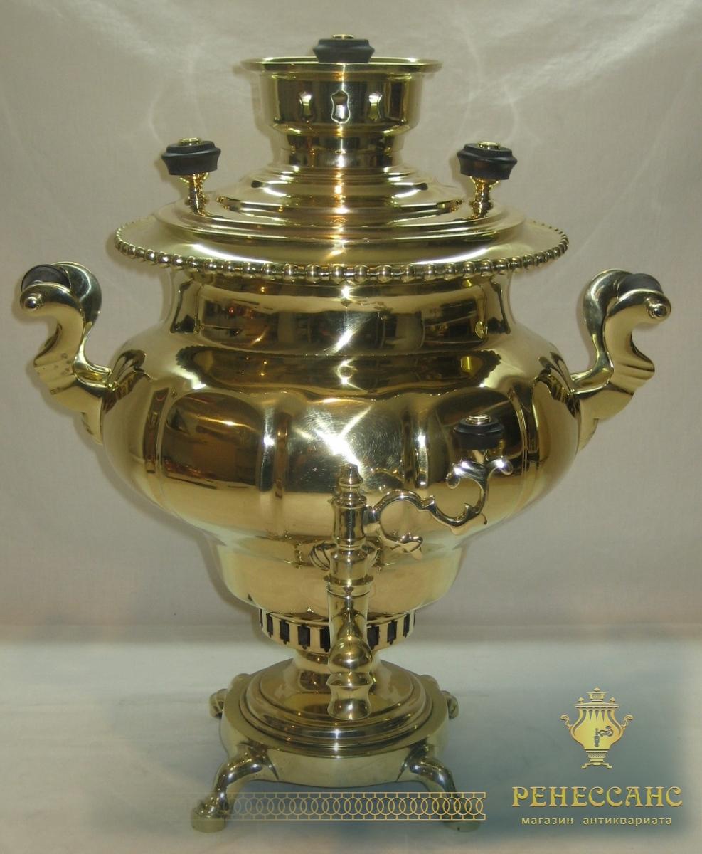 Самовар старинный «репка», на 5,5 л, «Н.А. Воронцов» 19 век №807