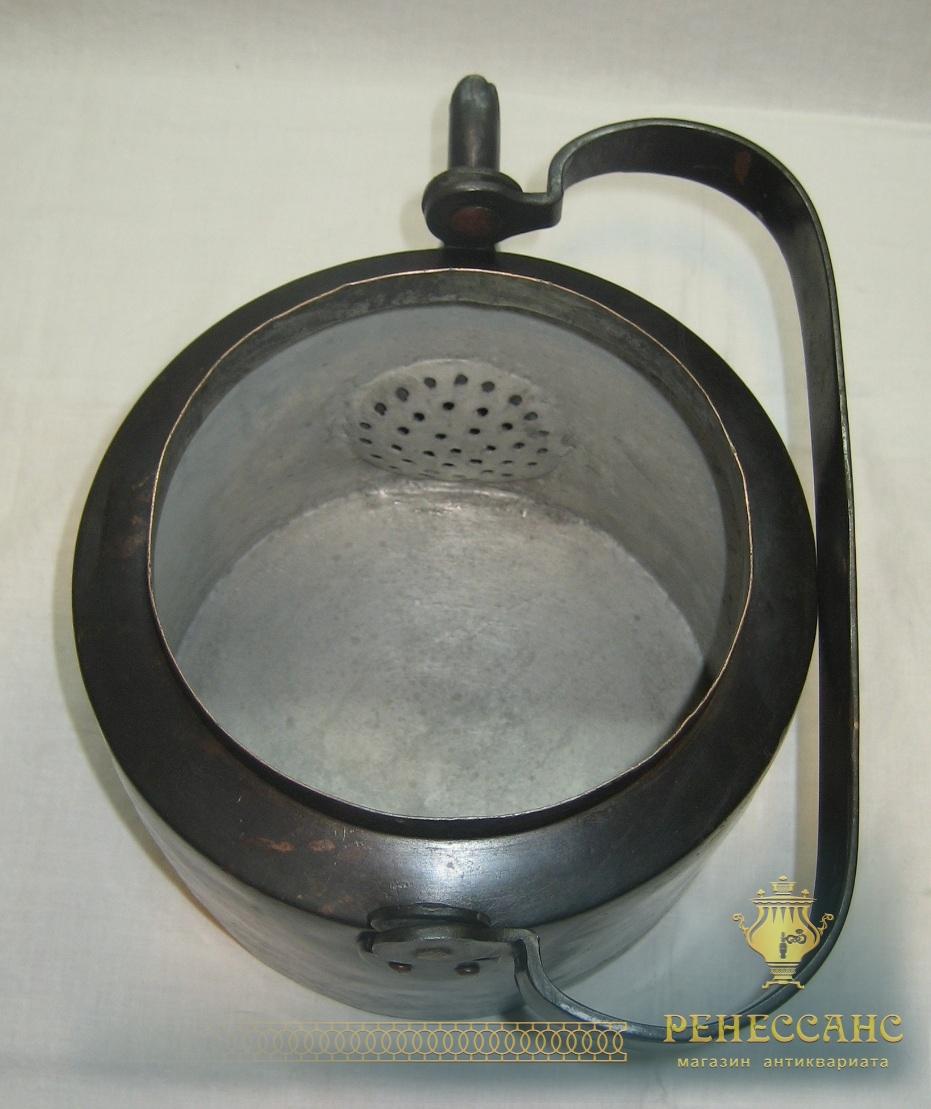 Чайник старинный медный, на 3,5 л, Россия 19 век №2958