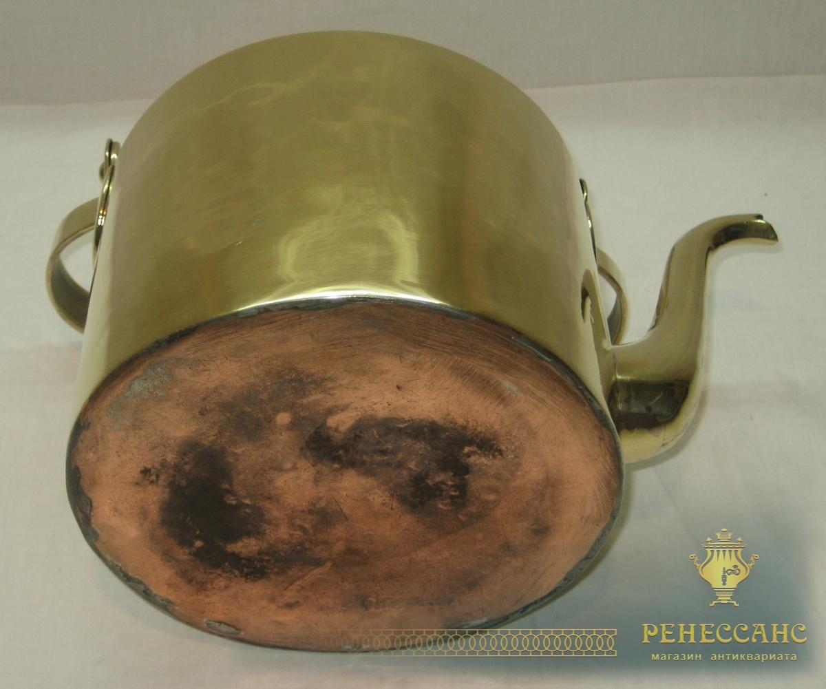Чайник старинный на 3 литра «Товарищество Кольчугина» 19 век №2968
