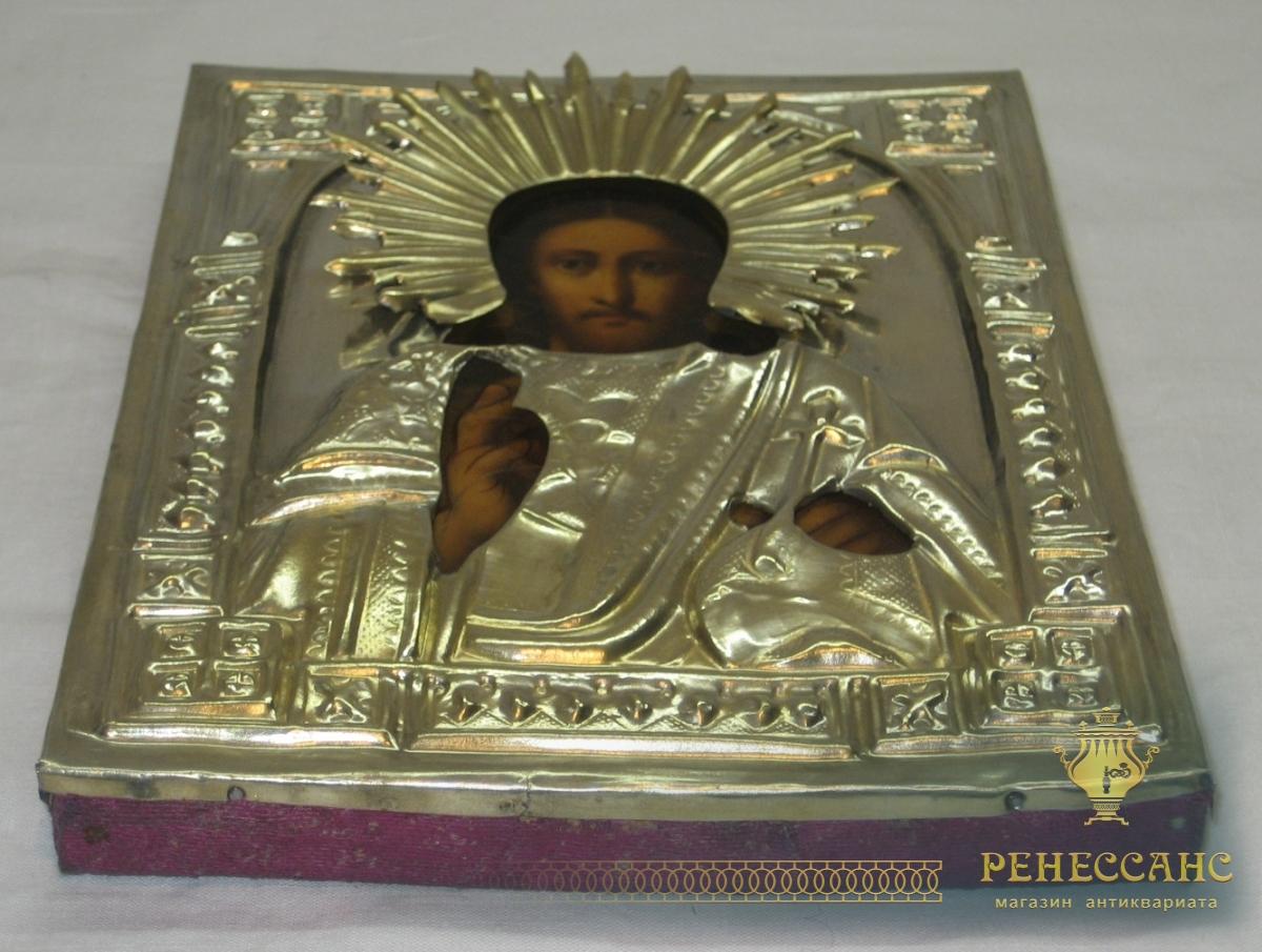 Икона старинная «Господь Вседержитель» 19 век №2970