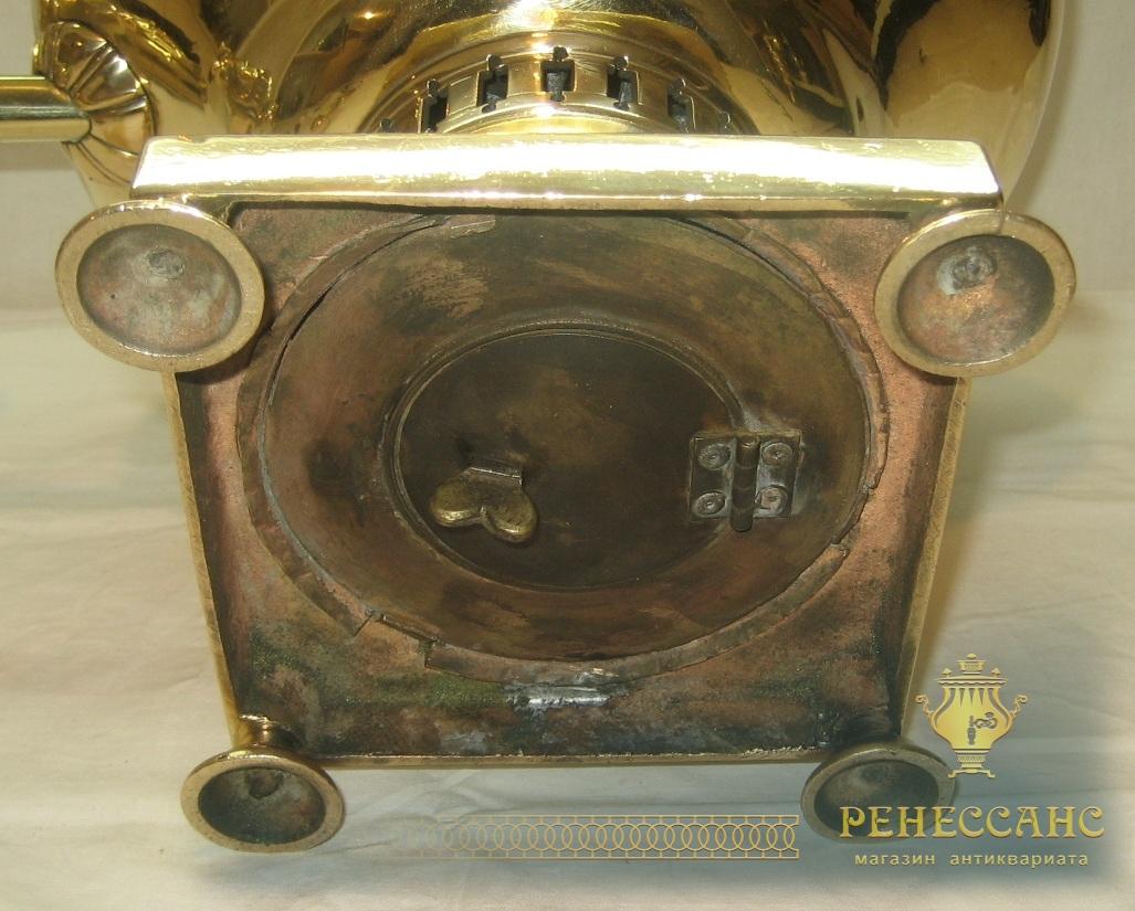 Самовар старинный «репка», «ваза», на 7 литров, томпак, «Бр. Ермиловых» 19 век №815