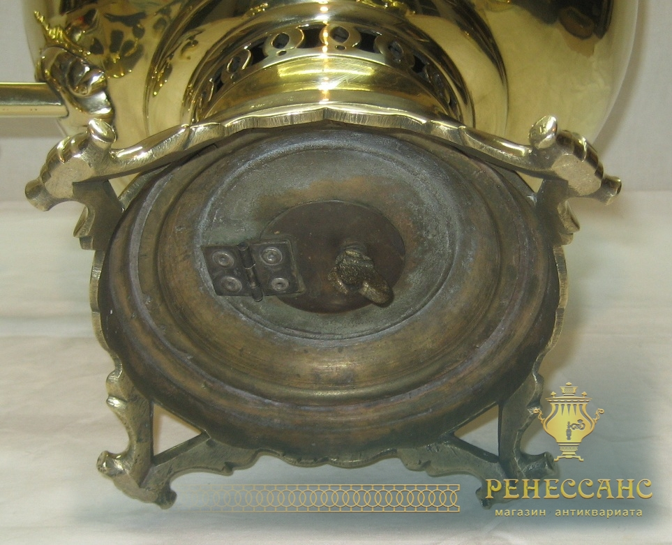 Самовар старинный на дровах «шар», на 6 литров, «Бр. Шемариных» №819