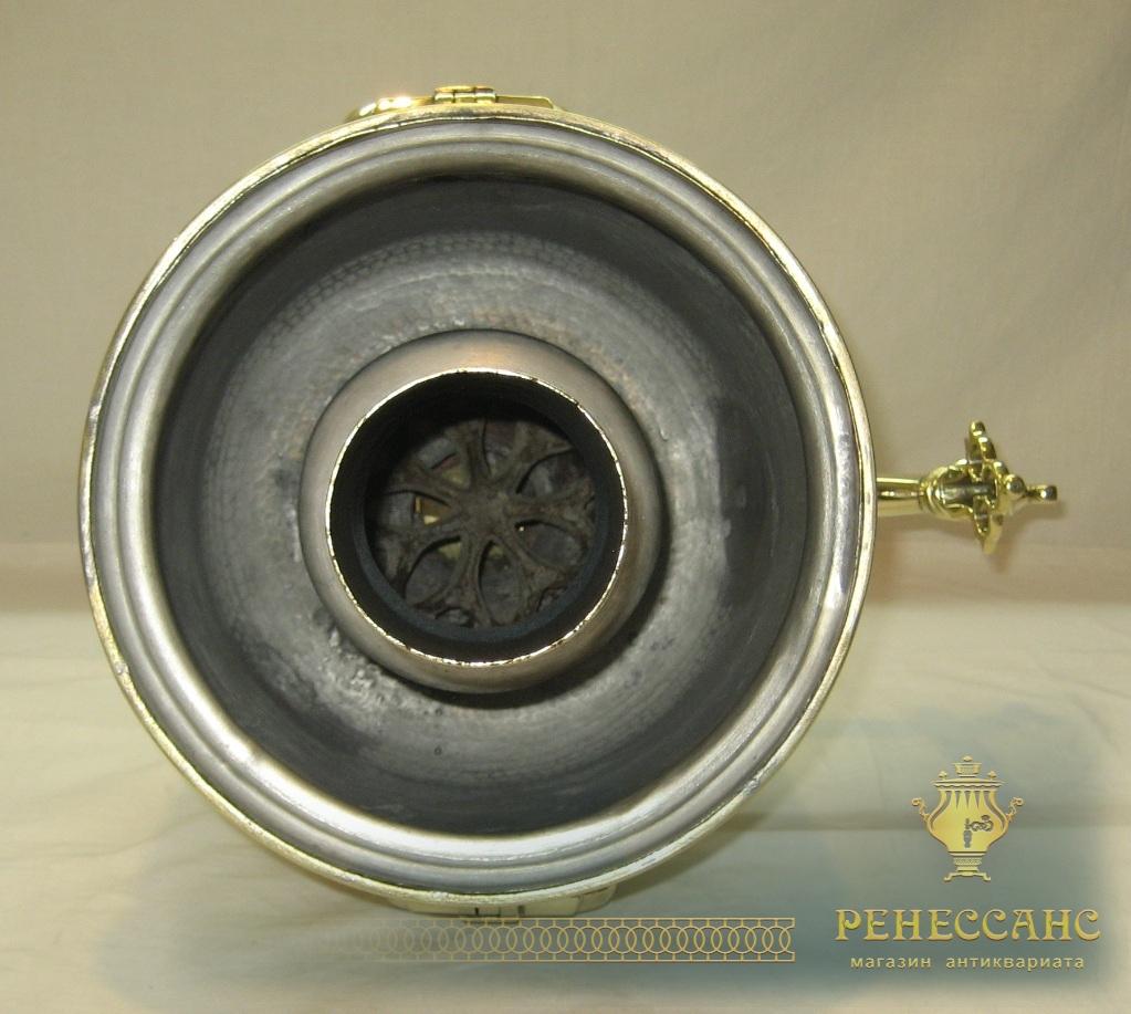 Самовар на дровах «банка», на 6 литров, «Бр. Петровых» 19 век №821