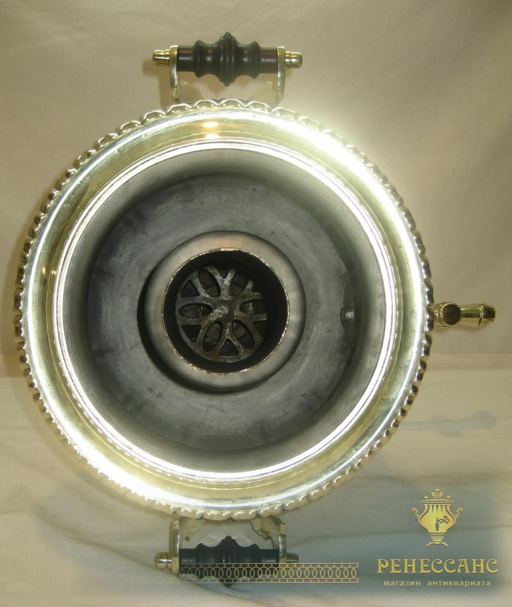 Самовар старинный угольный «фонарь», на 6,5 л, «Б.Г. Тейле» №824