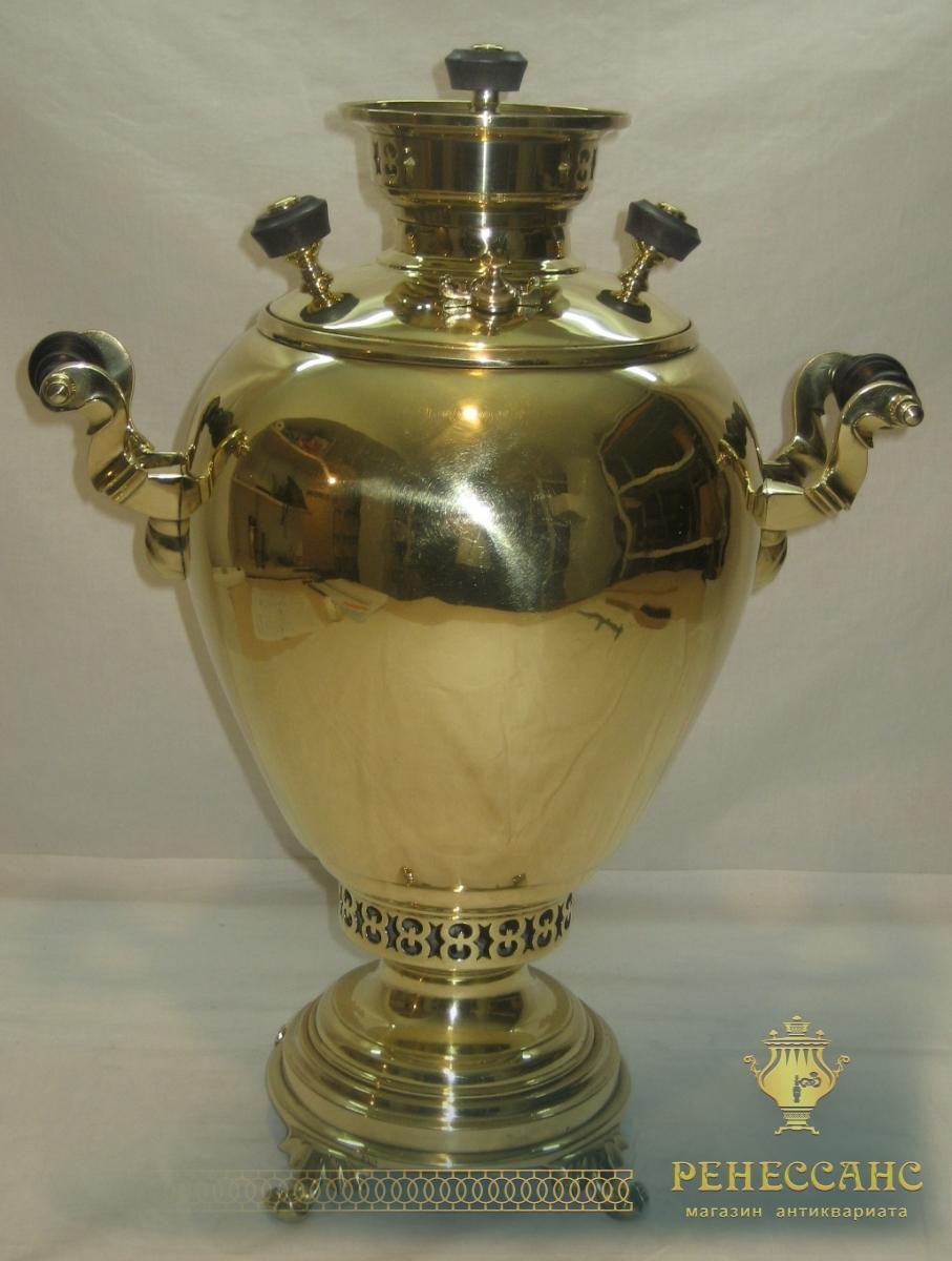 самовар угольный «яйцо», на 5 литров, «В.С. Баташев» №825