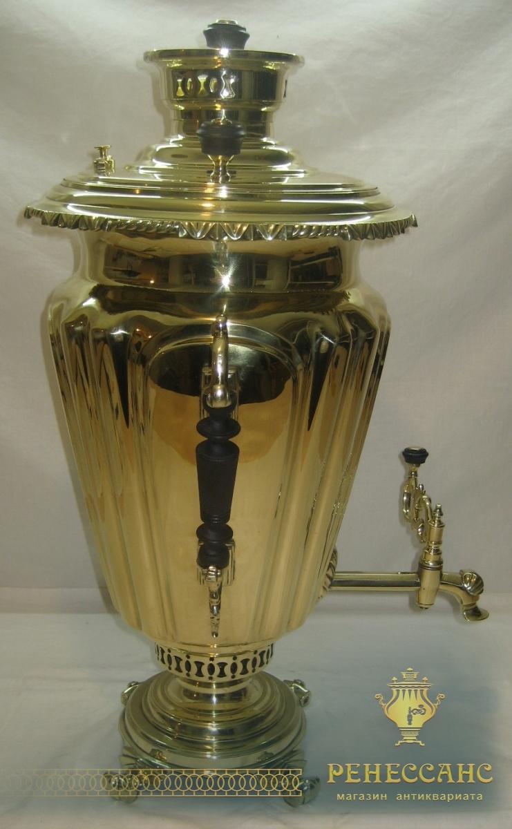 Самовар старинный «византийский», на 8 литров, «И.Ф. Капырзина» 19 век №826