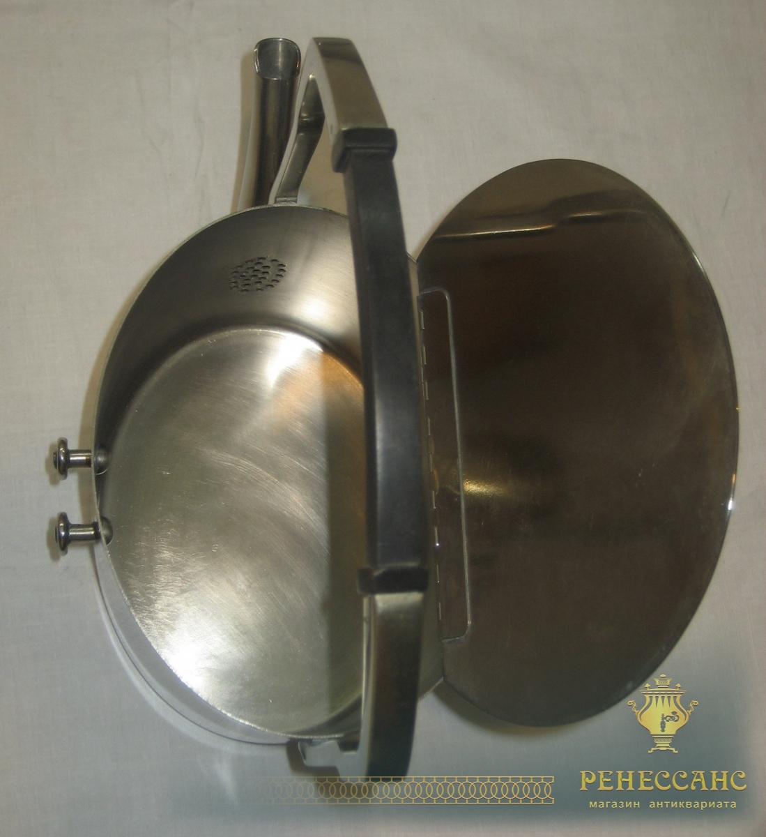 Бульотка старинная из никеля, «Ар-деко», Европа, начало 20 века №3044
