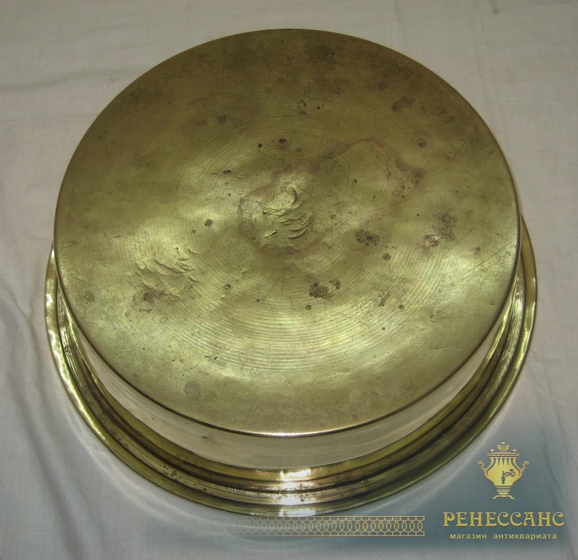 Таз старинный, тазик для варки варения, «Аленчиков и Зимин» 19 век №3072