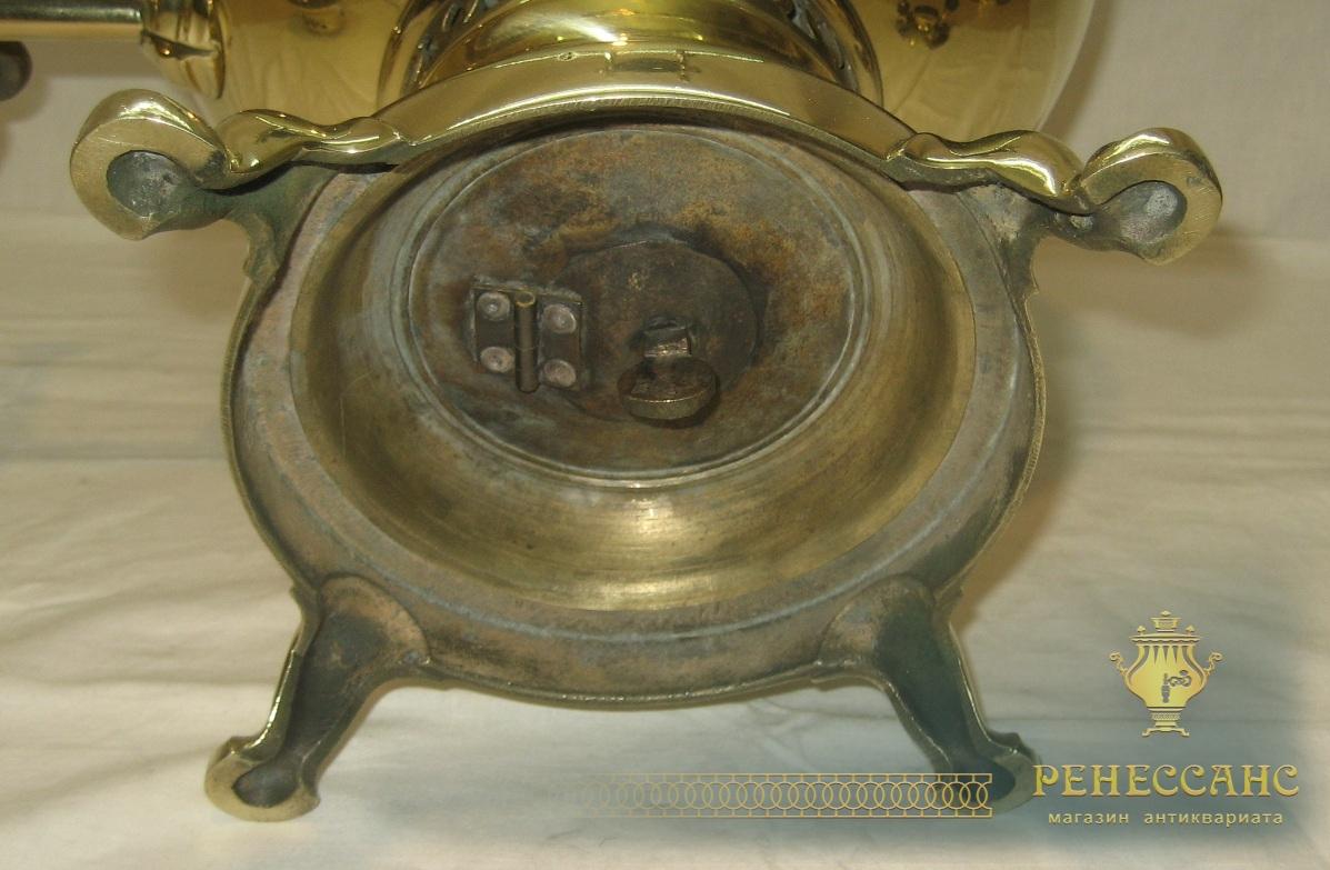 Самовар угольный «шар», на 7 литров, «Б.Г. Тейле» 19 век №844