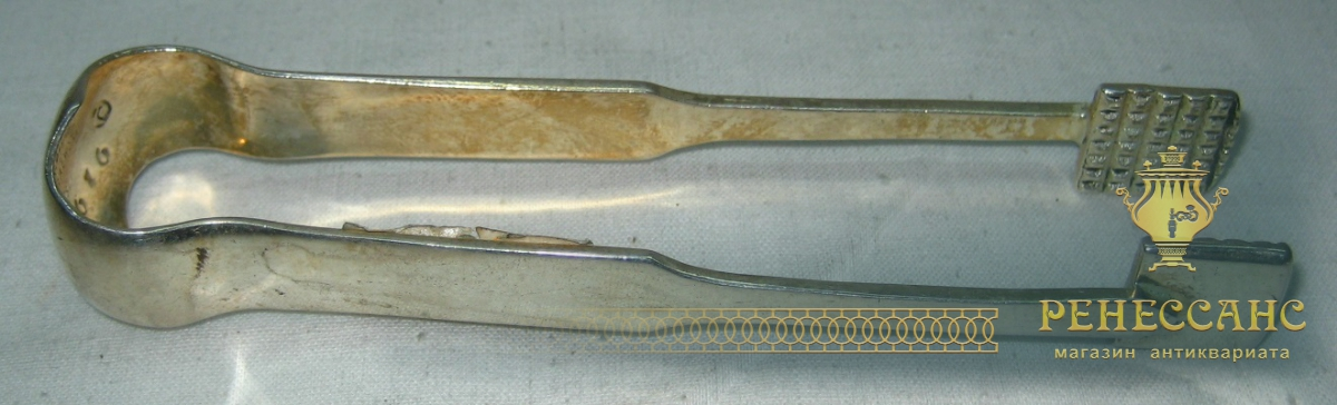 Щипцы для сахара, серебрение, Norblin 19 век №720