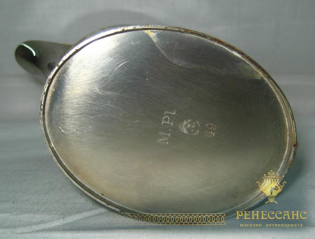 Сливочник старинный, в никеле, WMF Германия 19 век №683