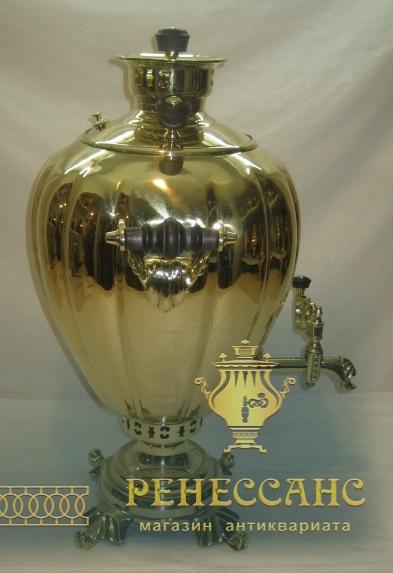 Самовар угольный «яйцо», на 10 литров, большой, Россия 19-20 век №860