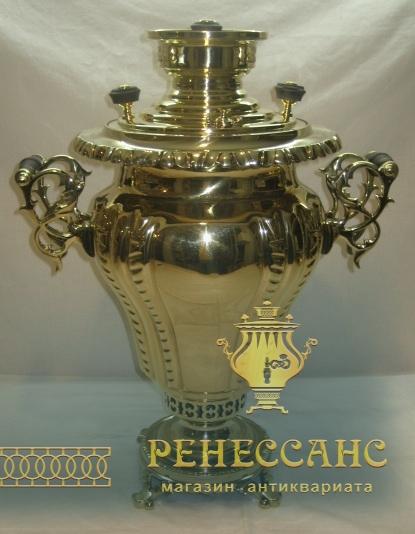Самовар старинный «груша», 6 литров, «ТПЗ» 1920-е года №886