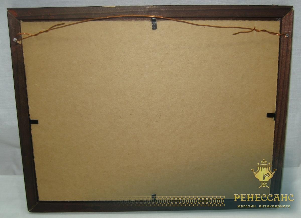 Картина «Озеро», картон, масло, 1994 год №3670