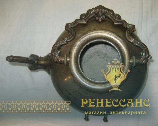 Бульотка старинная из меди, на 3 литра, Россия 19 век №3735