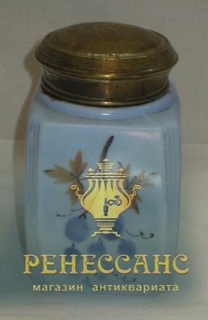 Чайница старинная с крышкой, фарфор, начало 20 века №3794