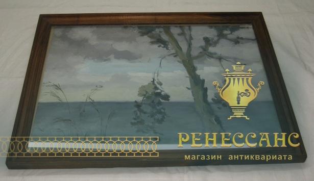 Картина «Дерево, море», акварель №3697