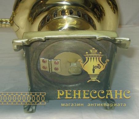 Самовар старинный угольный «банка» с медалями, на 3 л, «Аленчиков и Зимин» №955