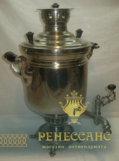 Самовар угольный «банка» с медалью, на 5 литров, Россия 1920-е годы №961