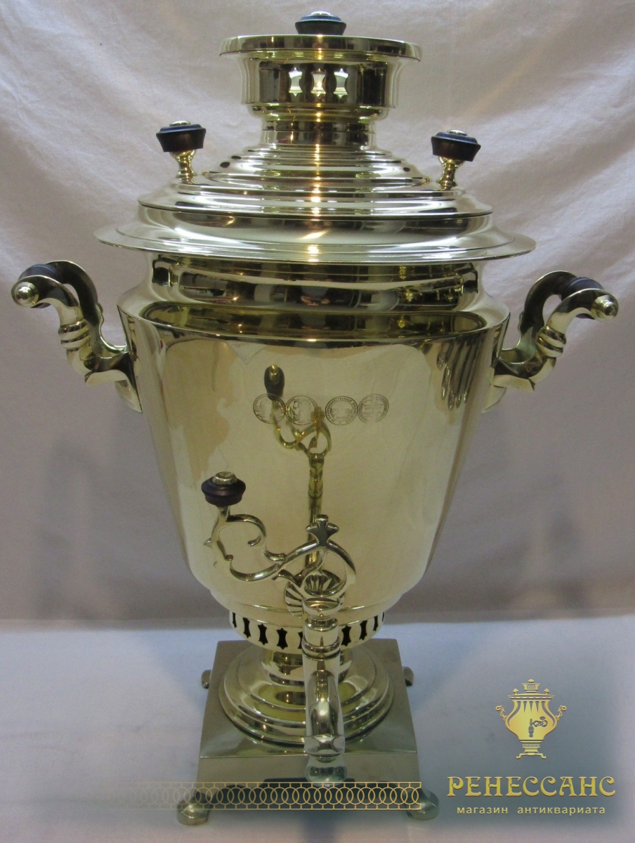 Самовар угольный «рюмка», с медалями, на 6 л, «Н.А. Воронцов» 19 век №985