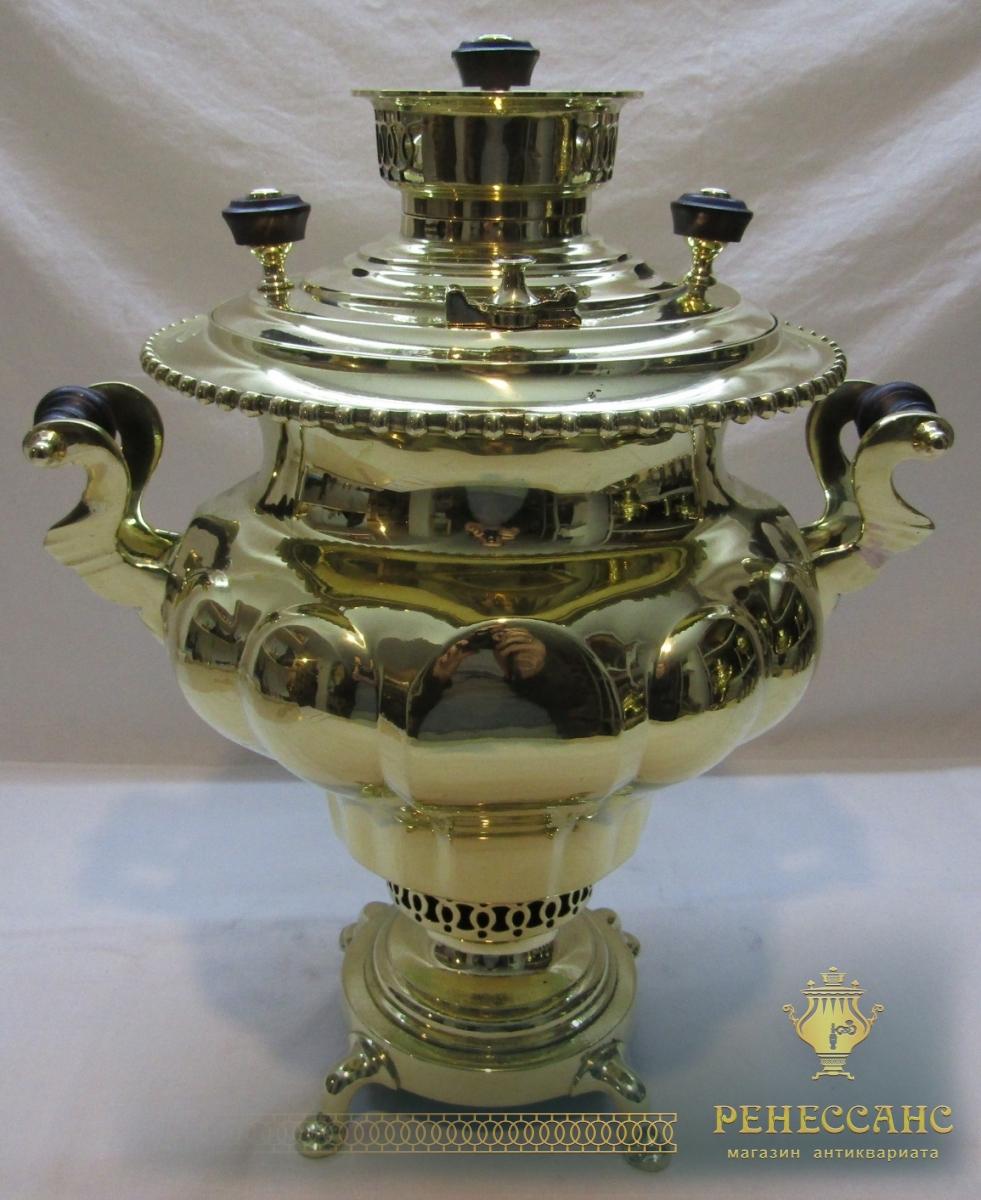 Самовар угольный «репка», на 5 л, «Н.А. Воронцов» 19 век №986