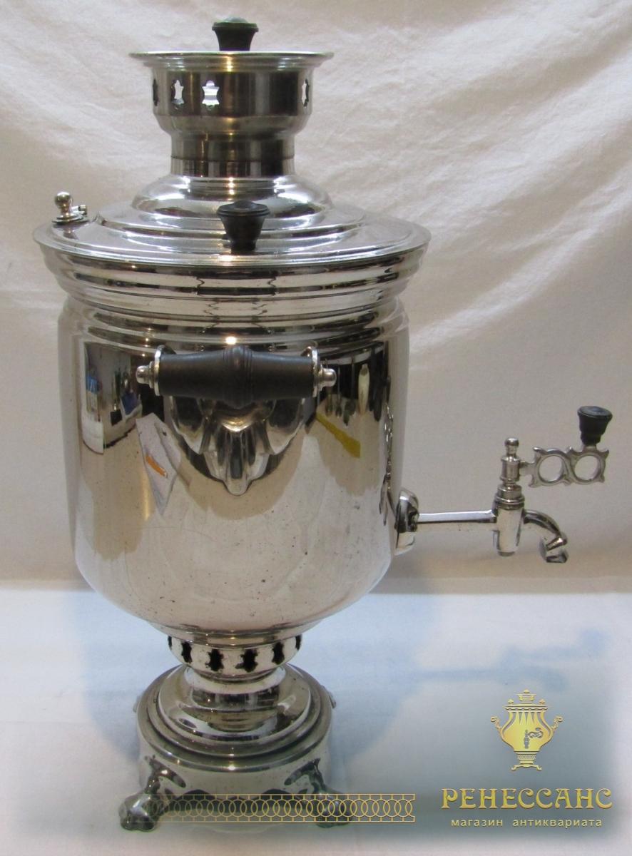 Самовар угольный «банка», никелировка, «ШТАМП» 1960 год №992