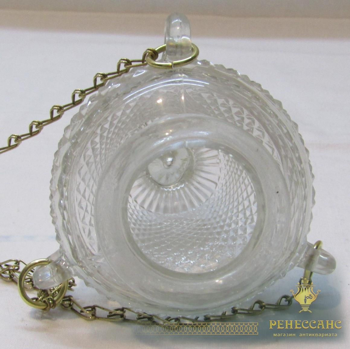 Лампада, лампадка старинная на цепях №4142